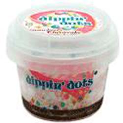 東京ジョイポリスのディッピンドッツ・アイスクリーム ストロベリーチーズケーキ味