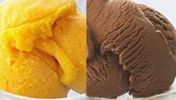 マンゴーシャーベット&チョコレートアイスクリーム